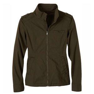 Army Green Prana Zip Up Jacket